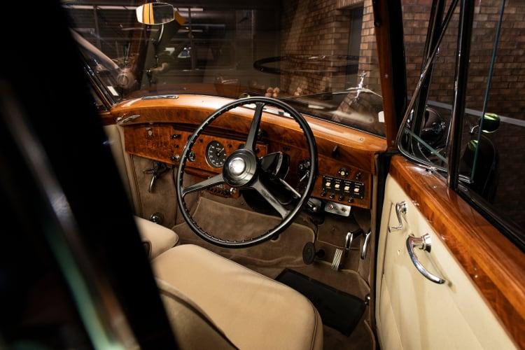 inside 1954 Rolls-Royce Phantom IV Limousine