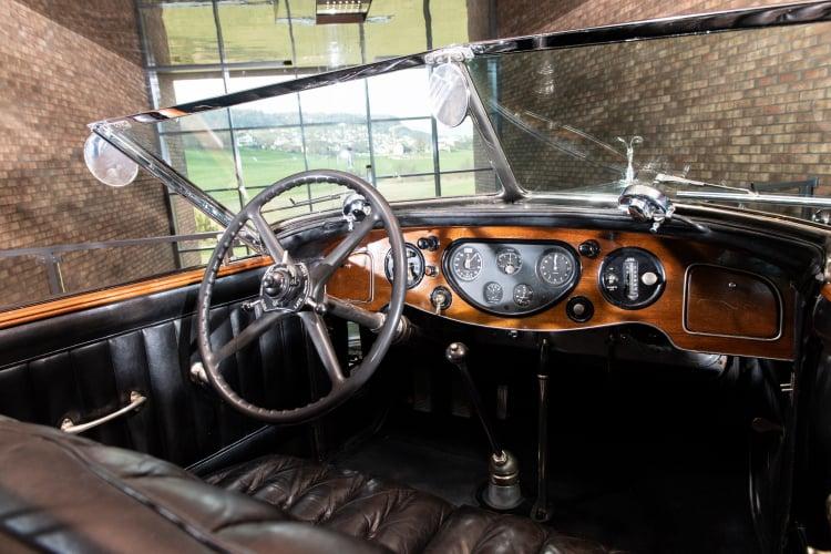 interior of 1933 Rolls-Royce Phantom II Special Brougham Town Car