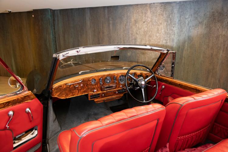 inside 1958 Bentley S1 Continental Drophead