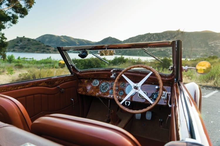 interior of 1937 Bugatti Type 57 Cabriolet