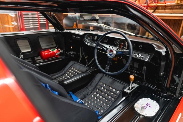 interior of 1966 Ford GT40 Alan Mann Lightweight