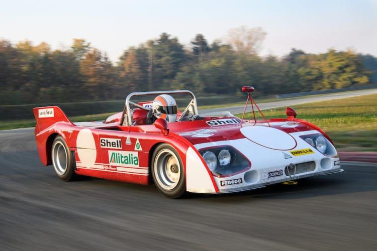 front of 1972 Alfa Romeo Tipo 33 TT3