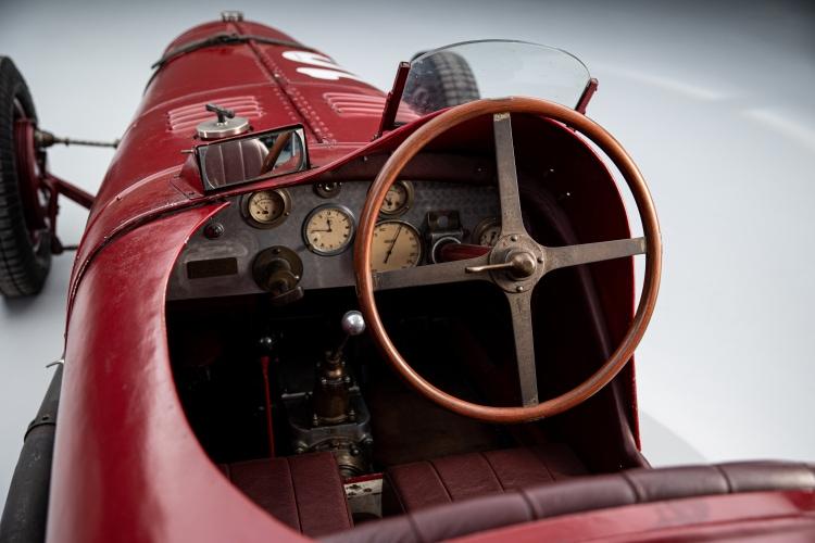 interior of the 1928 Maserati Tipo 26B