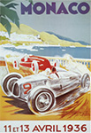 Monaco Grand Prix 1936 - Auto Racing Poster by Geo Ham