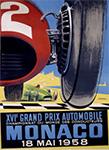 Grand Prix Automobile Monaco 1958 - Auto Racing Poster by J Ramel