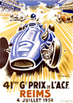41st Grand Prix of the Automobile Club de France, Reims - Auto Racing Poster by Geo Ham