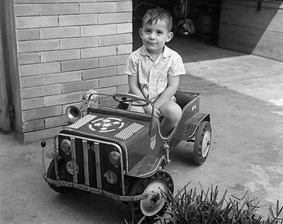 Ayrton Senna da Silva, aged 4