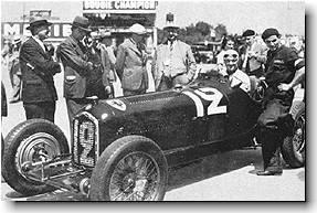 Louis Chiron in Alfa Romeo P3 prior to the French GP - 1934