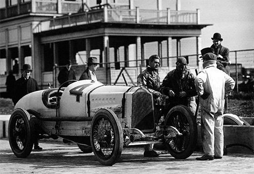 DePalma in a 1914 GP Vauxhall