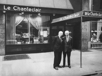 Maurice and Rene in fron of Le Chanteclair
