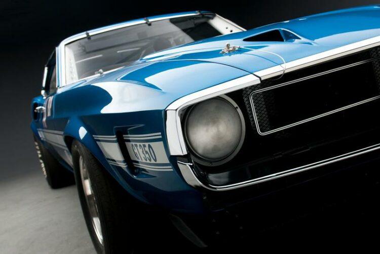1969 Shelby GT350 Sportsroof SCCA B Prod Race Car headlights