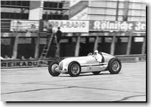 Lang practicing at the Nurburgring