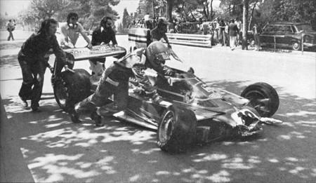 """Damaged Goods"" - Spanish GP 1975 (Niki Lauda)"