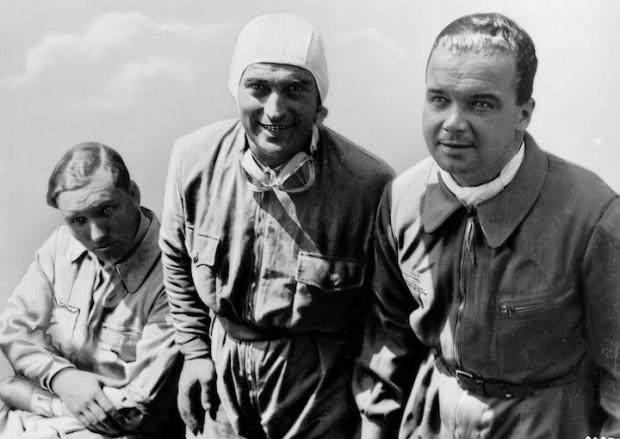 Manfred von Brauchitsch, Luigi Fagioli and Rudolf Caracciola.
