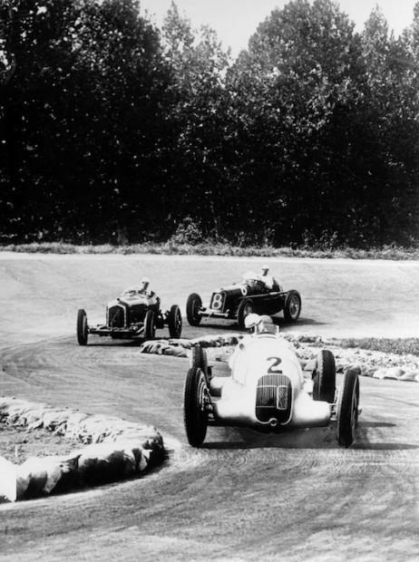 Rudolf Caracciola at the wheel of a Mercedes-Benz W 25