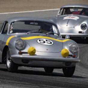Frank Altamura in his scrumptious 1962 Porsche 356B S90 GT 1600 exits turn five. ©2021 Dennis Gray