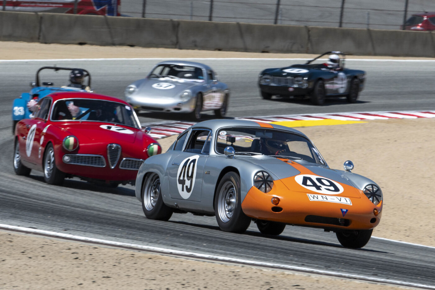 Group 1: 1955-1964 GT - Ranson Webster leads the way behind the wheel of his 1961 Porsche Abarth Carrera - ©Rex McAfee
