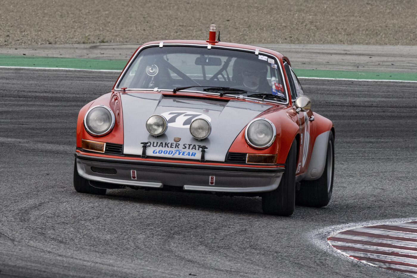 Randall Smalley's 1969 Porsche 911S 2500 in turn two Sunday. ©2021 Dennis Gray
