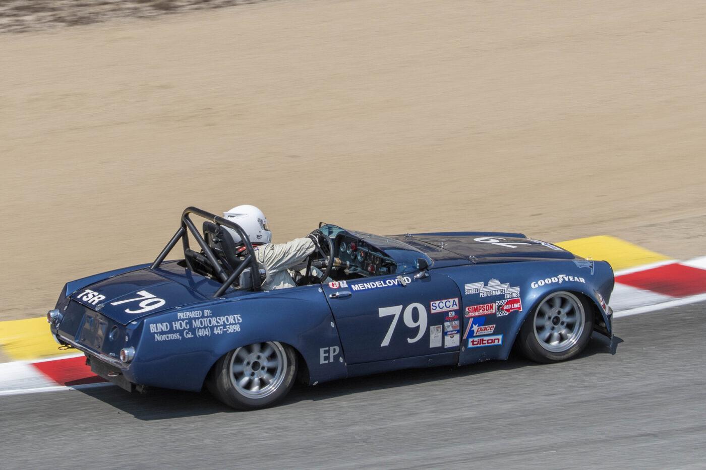 Group 2: 1961-1966 GT under 2500cc - Philip Mendelovitz exiting turn 6 in his 1967 Datsun 311 2000 Roadster - ©Rex McAfee