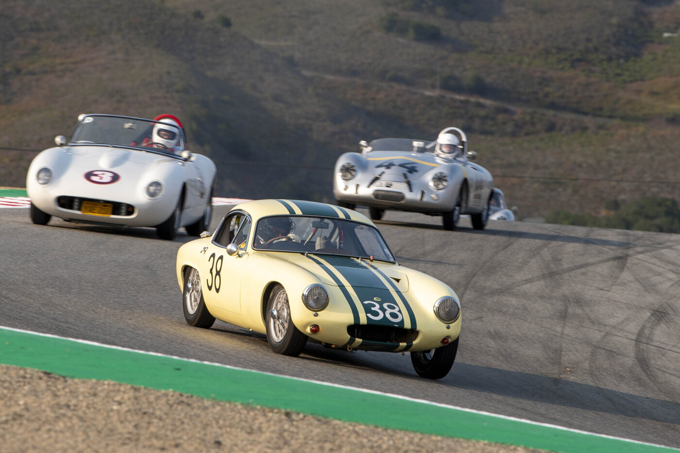 Group 1/1955-1964 GT - #38 Henry Moore enters the Corkscrew in his 1962 Lotus Elite - ©Rex McAfee