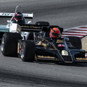 Les Mowie in a 1977 Lotus 78/2 3000 exits turn five. ©2021 Dennis Gray