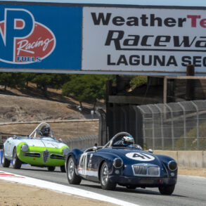 Group 1: 1955-1964 GT - Michael Silverman enters turn 6 in his 1957 MG MGA - ©Rex McAfee