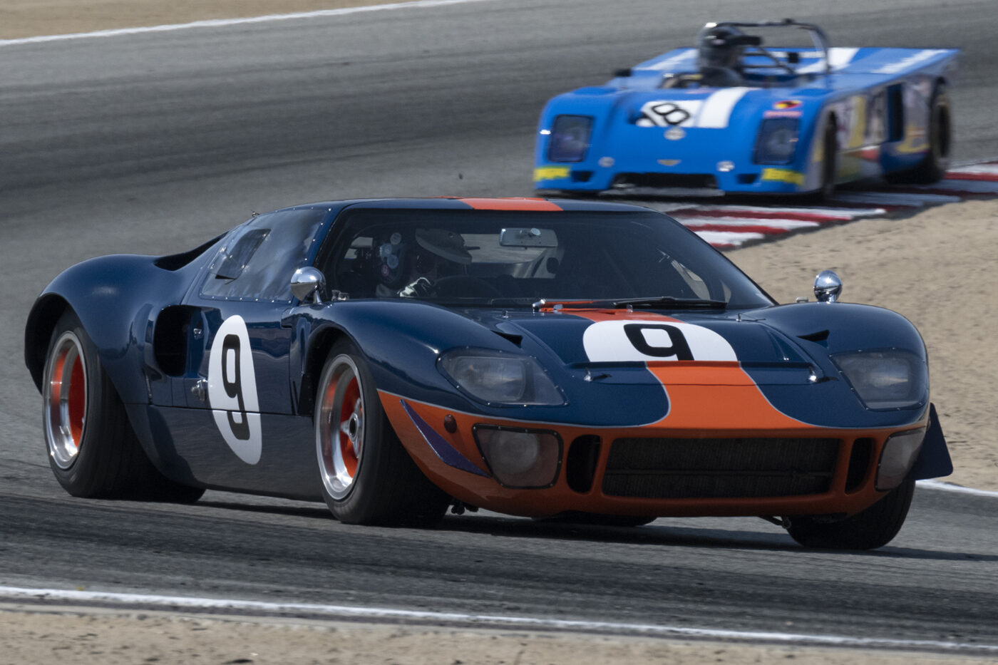 Alex MacAllister's 1966 Ford GT40 4949 exiting turn five. ©2021 Dennis Gray