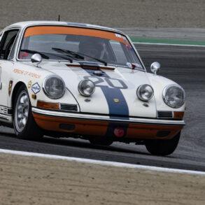 Robert Smalley's 1968 Porsche 911L 1997 in turn two Sunday. ©2021 Dennis Gray