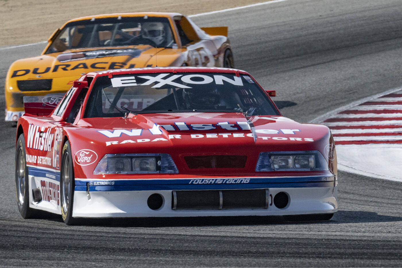 Chris Liebenberg in his 1991 Roush Mustang 358 in turn five. ©2021 Dennis Gray