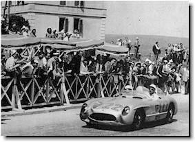 Moss/Jenkinson winning the Mille Miglia