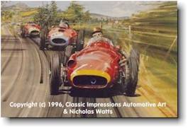 Fangio storming to victory at Nurburgring - 1957