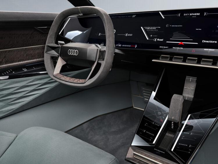 Audi skysphere concept steering wheel