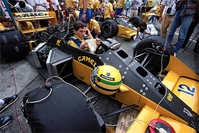 Ayrton Senna - Camel Lotus 99t Honda - Italian G.P. - Monza - 1987