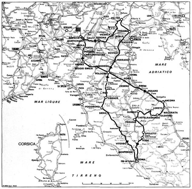 1927 Mille Miglia Route