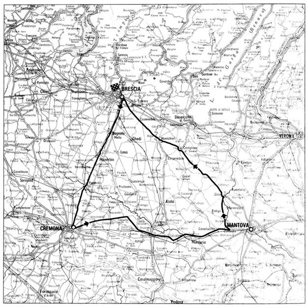 1940 Mille Miglia Route