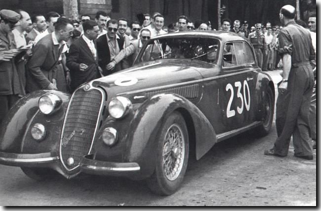 Biondetti-Romano Alfa Romeo, 1947 Mille Miglia