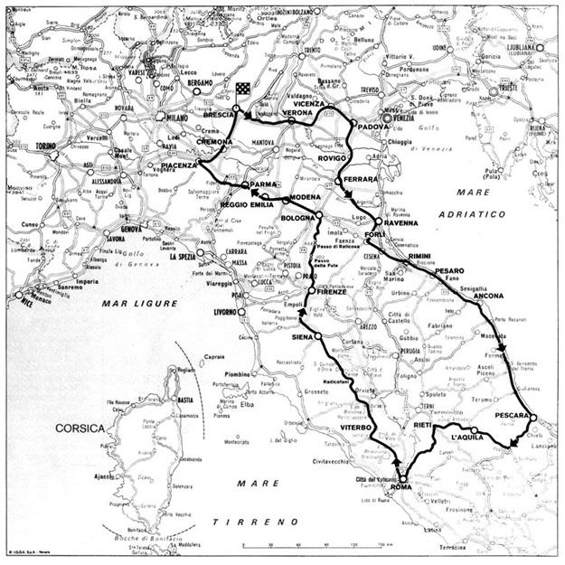 1953 Mille Miglia Route