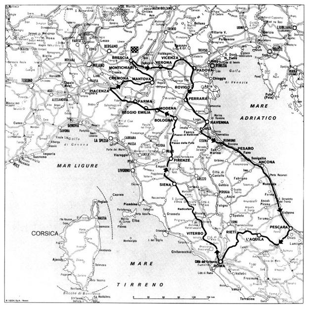 1956 Mille Miglia Route