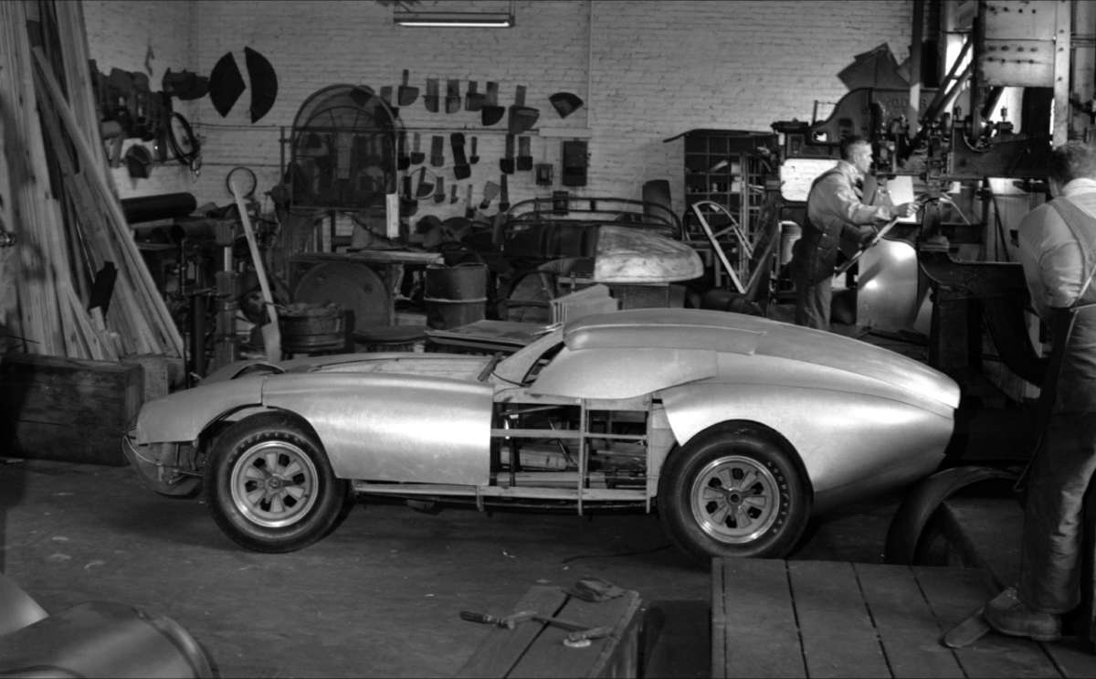 The first Daytona Coupe CSX2287 being built in Riverside, California.
