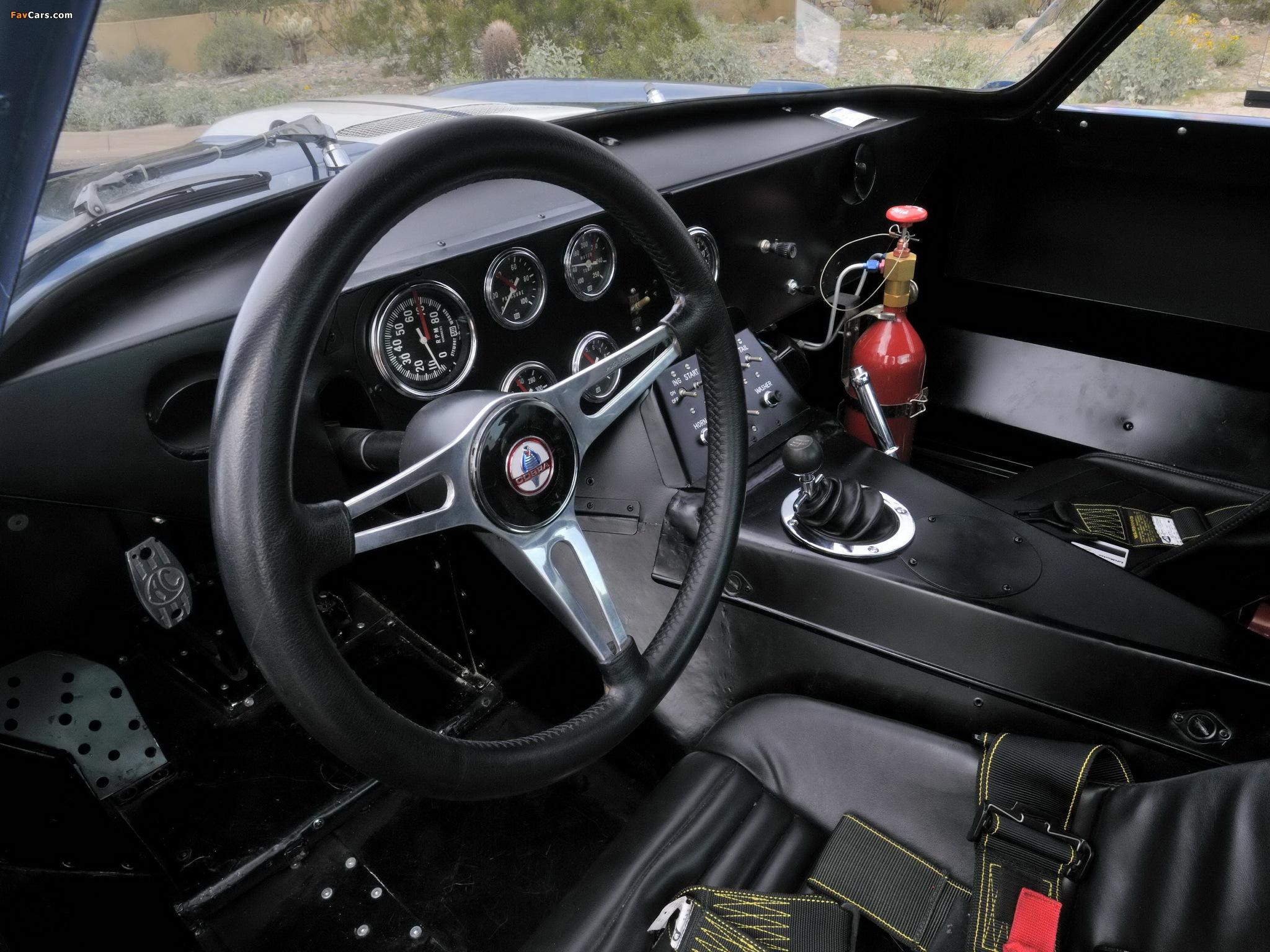 Spartan interior of the CSX2602 Cobra Daytona Coupé.