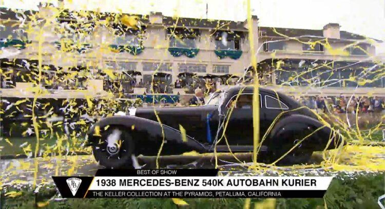 1938 Mercedes-Benz 540K Autobahnkurier wins 2021 Pebble Beach Concours d'Elegance best in show