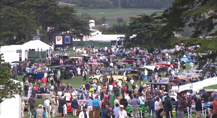 The grounds of the Pebble Beach Concours d'Elegance