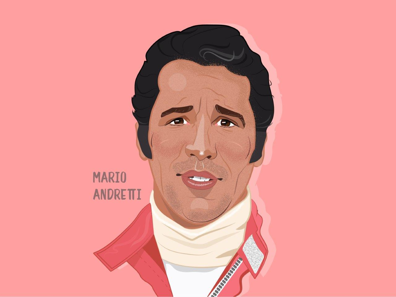 Mario Andretti Illustration