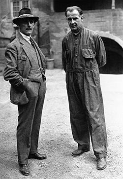 W.F Bradley of Autocar and Felice Nazzaro