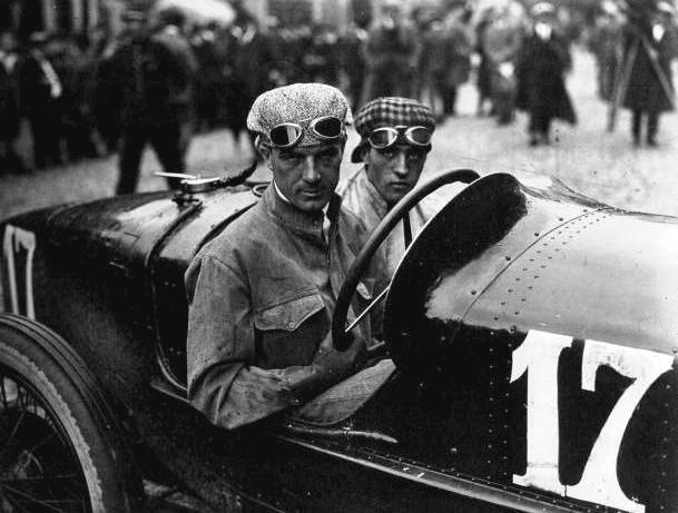 Biagio Nazzaro and riding mechanic Felice Germano