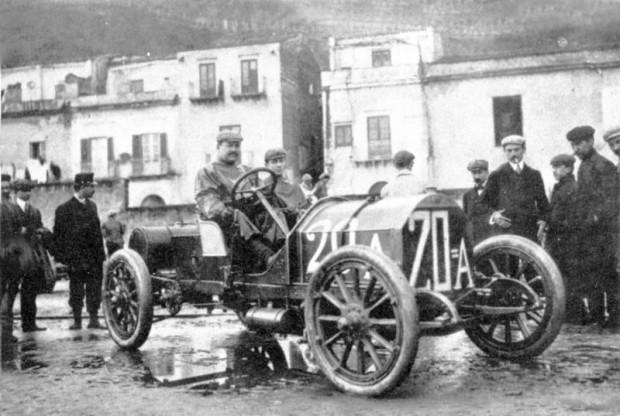 Vincenzo Lancia, 1907 Targa Florio