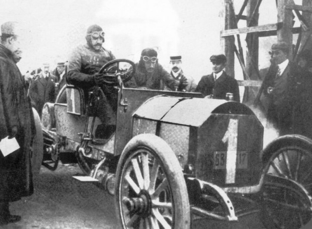 Vincenzo Lancia, 1908 Targa Florio