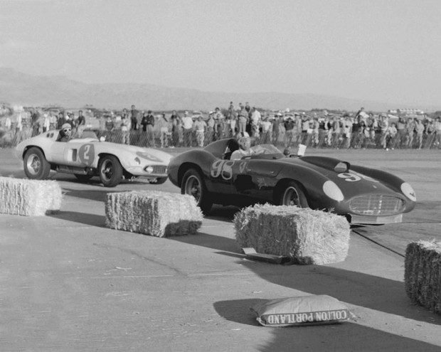 I took this photo of Carroll Shelby (right) and Phil at the November 4, 1956 race at Palm Springs. Shelby won with Phil right on his tail. Shelby and Phil were lifelong friends.
