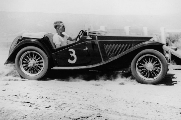 Phil Hill in a MG TC picture