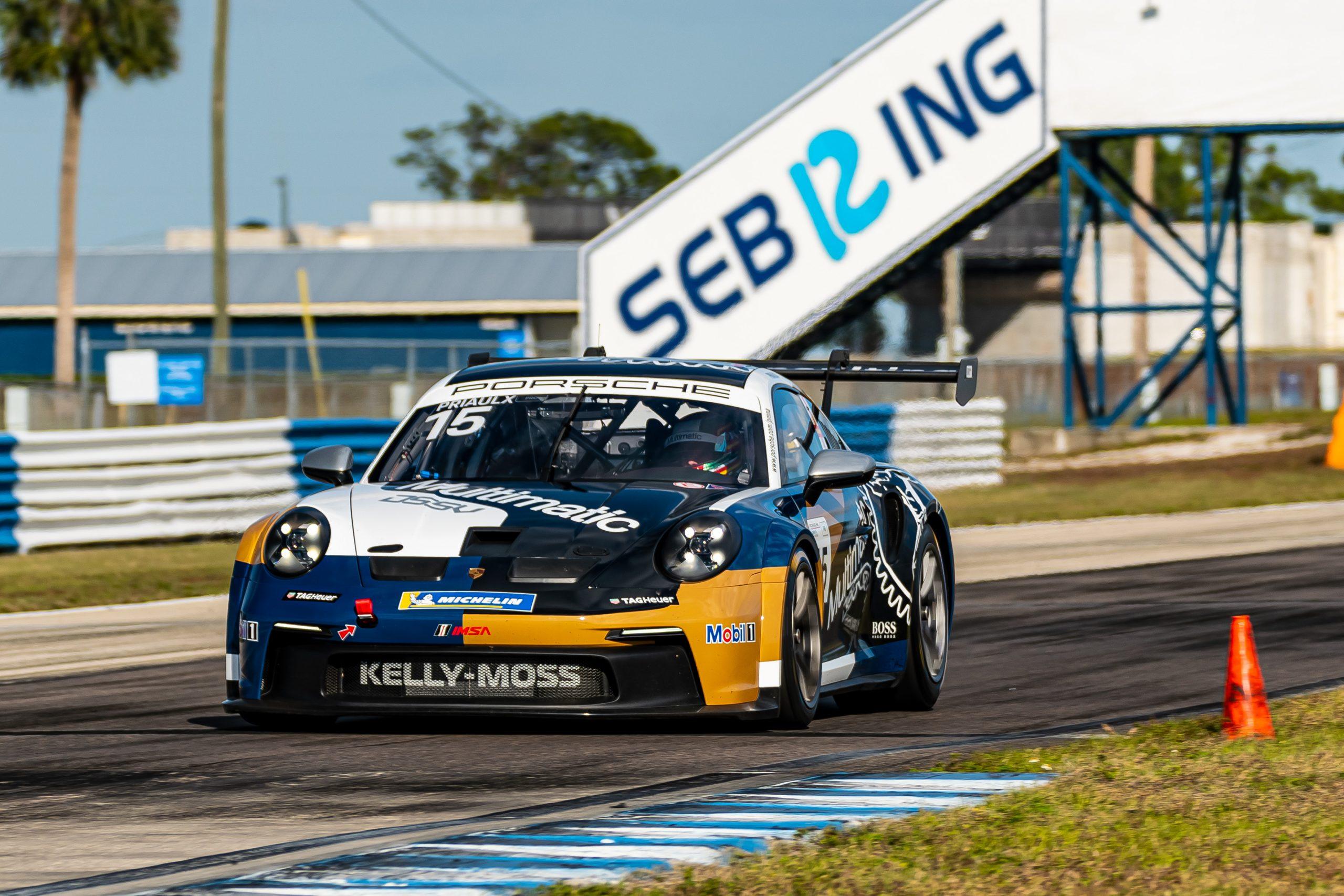 No. 15 Kelly-Moss Road & Race, Porsche 911 GT3 Cup, Sebastian Priaulx